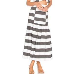 Mara Hoffman | Drop Waist Striped Midi Skirt